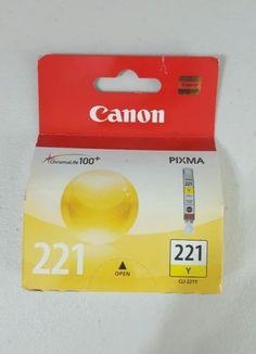 NIB-Genuine-Canon-221-Yellow-New-in-Box-Cartridge
