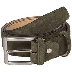 Shop our range of men's belts for 40 Colori Trento Suede Leather Belt - Olive Green. Fast delivery and free returns at KJ Beckett. Leather Belts, Suede Leather, Leather Men, Men's Belts, Burberry Men, Gucci Men, Belt Without Buckle, Branded Belts, Men's Grooming