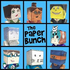 Heres the story. These Papercraft characters were designed cut and constructed by 6th grade art foundations classes.   #ArtEd #Papercraft #OakPark97 #BeBrooks97