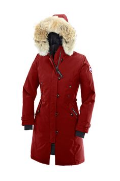 Kensington Parka great in a neutral colour, but so much better in red