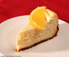Orange Flavored New York Style Cheesecake by Kirsten | My Kitchen in the Rockies