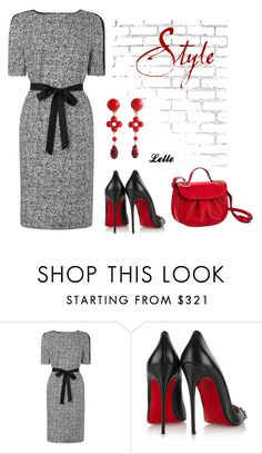 L K Bennett by lellelelle on Polyvore featuring мода, L.K.Bennett, Christian Louboutin, Moschino and WALL