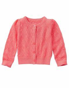 NWT Gymboree TROPICAL BREEZE Girls Coral Pointelle Cardigan Sweater 4 5-6 7-8 10 #Gymboree #Cardigan #EasterDressyEverydayHolidayParty