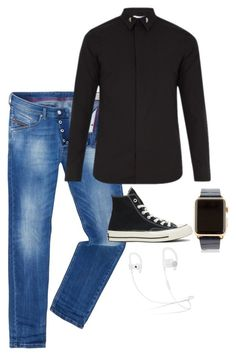 """""""Night Out with Her"""" by oviattmia on Polyvore featuring Diesel, Givenchy, Converse, Hadoro, Beats by Dr. Dre, men's fashion and menswear"""