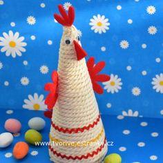 Velikonoční dekorace slepička Spring Crafts For Kids, Christmas Crafts For Kids, Easter Crafts, Art For Kids, Christmas Ornaments, 123 Cross Stitch, Diy And Crafts, Arts And Crafts, Clay Wall Art