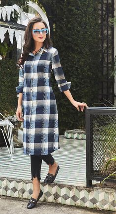 Wholesale Party Ethnic Wear Long Length Cotton Kurti Collection At Wholesale Rates Kurta Designs Women, Kurti Neck Designs, Kurti Designs Party Wear, Salwar Designs, Blouse Designs, Kurti With Jeans, Mode Kimono, Kurti Styles, Indian Designer Suits