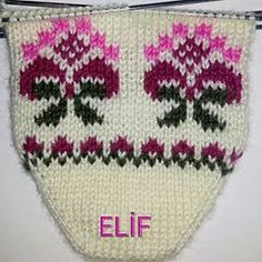Fotoğraf açıklaması yok. Fair Isle Knitting, Baby Knitting Patterns, Crochet Lace, Elsa, Diy And Crafts, Winter Hats, Collection, Tricot, Sock Knitting