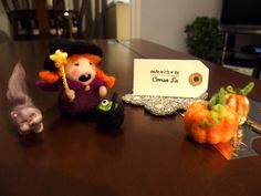 Needle Felted Halloween Characters, all by Carren Lu (www.artistic-touch.co.uk)