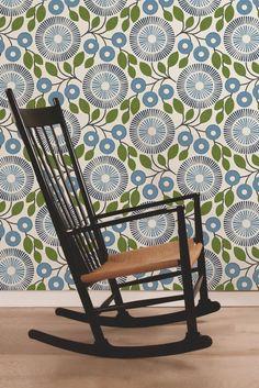 Pompom wallpaper design by Natasha Marshall.                                                                                                                                                                                 More