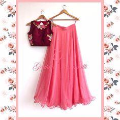 Designer pink net sequince work lehenga choli with heavy work blouse for women, indian lehenga, lehenga blouse, lengha choli Lehenga Crop Top, Half Saree Lehenga, Lehnga Dress, Sari, Lehenga Blouse, Half Saree Designs, Choli Designs, Lehenga Designs, Designer Lehnga Choli