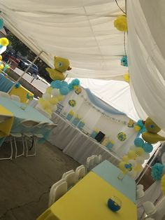 Party Themes, Grandmau0027s Boy, Balloon Backdrop, Balloons, Baby Shower, Rubber  Duck, Shower Ideas, Gender Reveal, Ducks