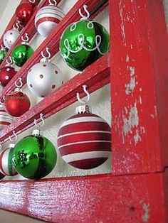 Diggin this idea for those of us that collect antique ornaments that tend to get lost in the tree and not noticed or better yet display of crystal ornaments - Jamie