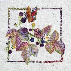 nice butterfly & purple leaves