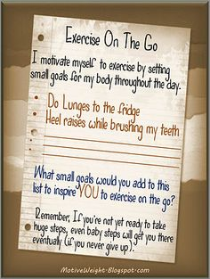Exercise on the Go