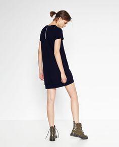 CONTRAST ZIP DRESS-DRESSES-TRF | ZARA Turkey
