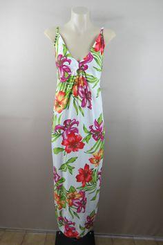 HEAT WAVE SURVIVAL PACK One Free Size Ladies Maxi Sun Dress Casual Boho Hippie Gypsy Beach Festival Hawaiian Floral Print STUNNING