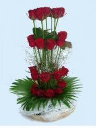 Red Roses Designer Basket. Send Wedding Flowers to Chennai With Free Home Delivery. Available at : http://www.chennaiflowers.com/flowers/type/wedding-flowers-to-chennai