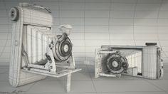 Illés Gábor 04 - Old Camera wireframe