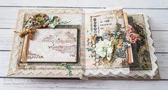 Olushka - Scrapbook and Mixed Media life: Vintage mini album, with a mixed media…
