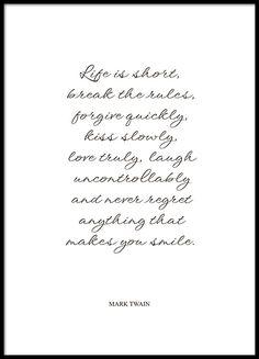 Plakat mit Mark Twain-Zitat