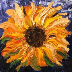 Canvas print of original oil painting Van Gogh by EKphotoArt