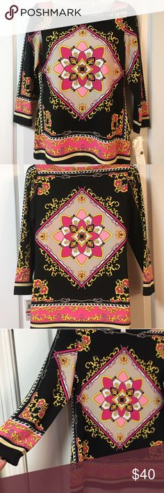 fc686a7f9b8 Shop Women s Charter Club Pink Black size S Blouses at a discounted price  at Poshmark. Description  NWT Very nice New Multi Color Charter Club Blouse.