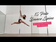 Spinning Pole Combo Routine Intermediate - YouTube