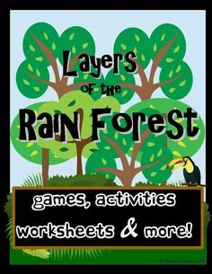 Layers of the rainforest earth day song for children education rainforests this bundle is loaded with gamesactivities worksheets and more included layers fandeluxe Image collections