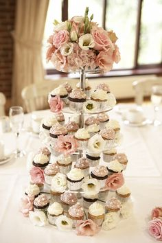 cupcake tower at each table instead of one big cake.