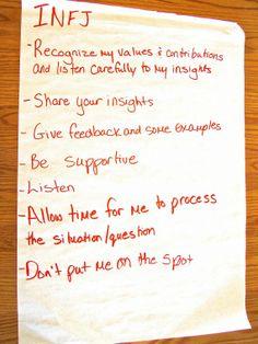 INFJ Communication Highlights