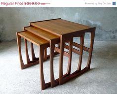 ON SALE mid century danish GPLAN nest of tables. $200.33, via Etsy.