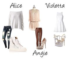 """""""tenues alice violetta angie /"""" by violetta2-billy-bibi-abi ❤ liked on Polyvore featuring HANIA by Anya Cole, Camilla and Marc, A.L.C., Giuseppe Zanotti, Valentino and ALDO"""