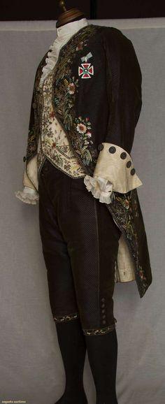 18th century embroidered menswear