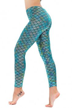 Diamond keep it Women's Mermaid Fish Scale Printing Full Length Leggings (Small, Multicolor Green): brSize detail as below: brSize S brSize M brSize L brSize XL Please refer to size of choose and buy at ease Crop Top And Leggings, Cheap Leggings, Floral Leggings, Printed Leggings, Women's Leggings, Leggings Store, Glitter Leggings, Patterned Leggings, Shiny Leggings