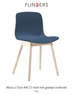 Check out this product I've found using the Flinders app:  About a Chair AAC12 stoel met gezeept onderstel http://www.flinders.nl/hay-aac12-stoel