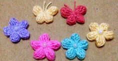 Mini Butterfly and Mini Flower Crochet  ★★★★★★★★★★★★★★★★★
