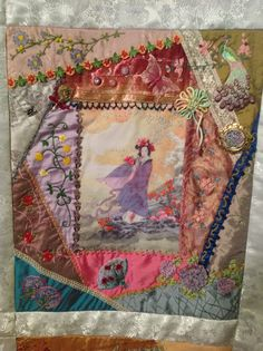 Block 4..Asian Riches... Design by Gloria Mckinnon...stitched by Avis Withers