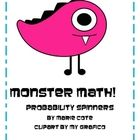 This little freebie includes three different monster themed spinners to be used with probability. You can have students spin and chart, make predic...