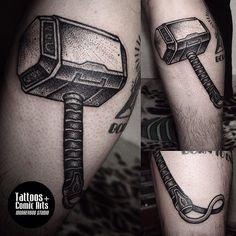 Monkey Bob tattoo Thor hammer