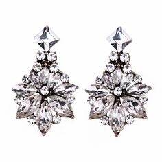 Cheap fashion stud earrings, Buy Quality stud earrings directly from China stud earrings wholesale Suppliers: Best lady Bohemian Cheap Women Classic Flowers Hot Sale Fashion Female Wedding Stud Earrings 3 Colors Wholesale Earrings 4268 Wedding Earrings Studs, Women's Earrings, Diamond Earrings, Flower Shape, Flower Stud, Wholesale Jewelry, Statement Jewelry, Bridesmaid Gifts, Jewelry Gifts