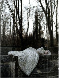 melancholic reverie in the park by Deborah Turbeville