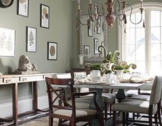 Sage green dining room: 'Creekside Green' by Benjamin Moore by xJavierx, via Flickr