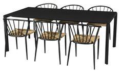Birmingham havemøbelsæt med 6 Lima stole - natur