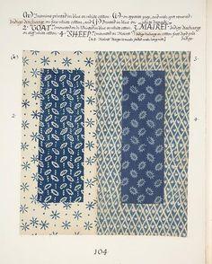 fabric: blue & white
