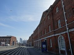 Naval storehouses, now home to the National Museum of the Royal Navy, Portsmouth Historic Dockyard.