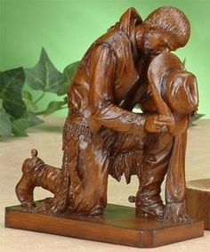 Praying Cowboy Figurine