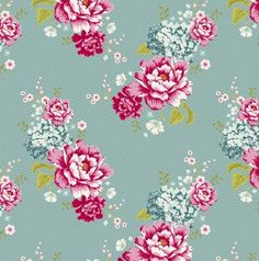 Tilda Fabric Flowerpatch Teal - Fabrics - Tilda Crafts - Sewing, Quilting and Needlecraft Stitch Craft Create - An online craft shop, packed with all the crafty products you need to make fabulous and exciting projects