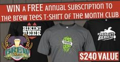 Win a FREE Annual Subscription to the Brew Tees T-Shirt of the Month Club