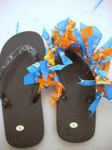 flip flops with fabric ties