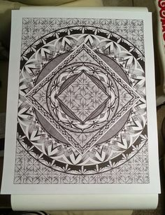 Judy's Zentangle Creations: Circle in a Square